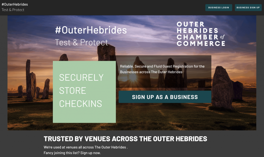 Test and Protect App for the Outer Hebrides